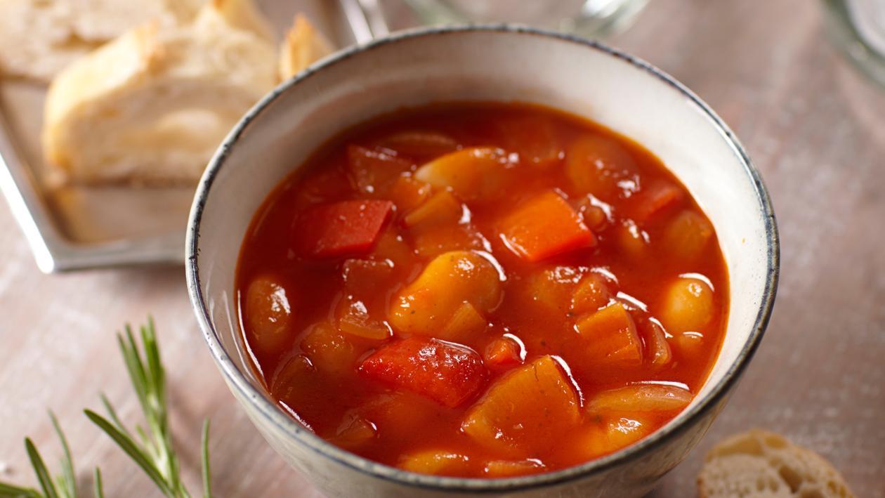 Tomaten-witte bonensoep uit Spanje met rozemarijn - Unox
