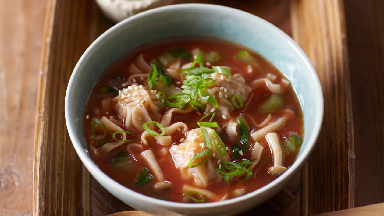 Tomatensoep uit Beijing met wontons - Knorr