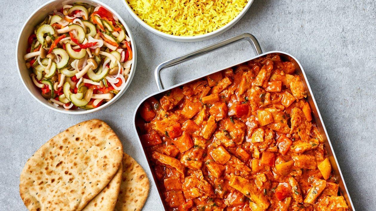 Vegan Tikka Masala met zoet zure groenten (traiteurs)