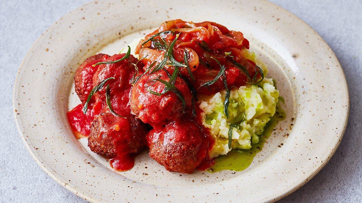 Vegetarische gehaktballetjes met tomaat en rozemarijn