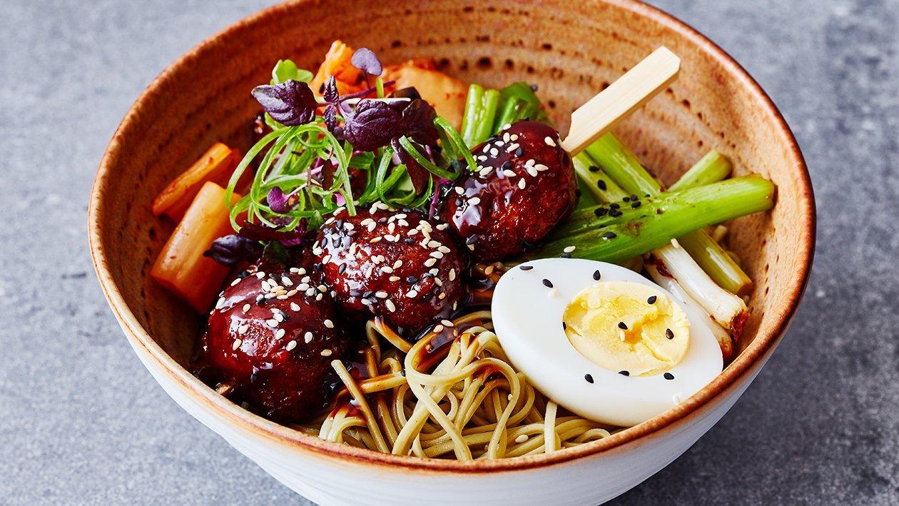 Vegetarische Koreaanse gehaktballetjes