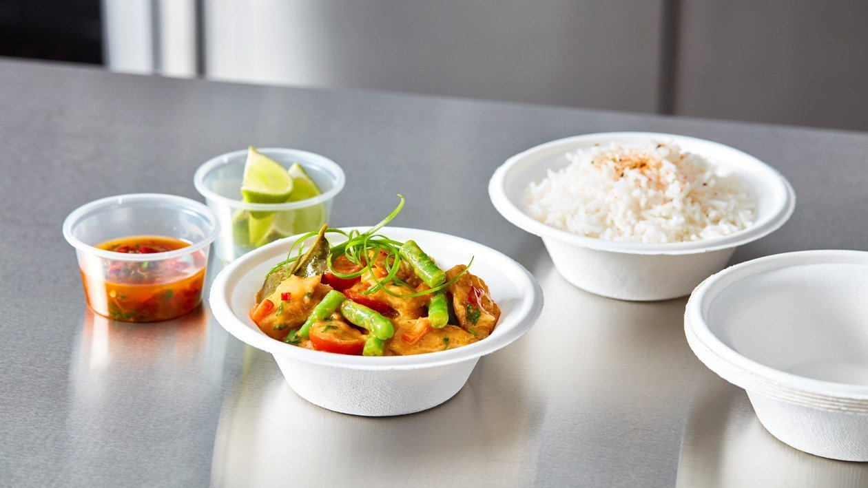 Vegetarische Thaise rode curry (delivery)