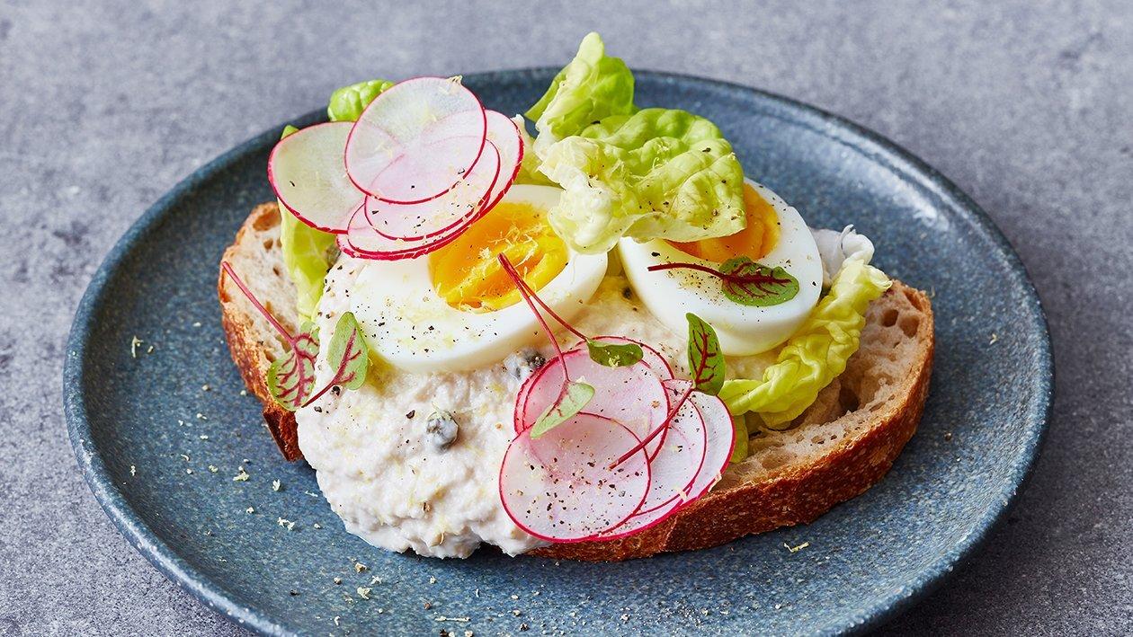 Vegetarische tonijn sandwich