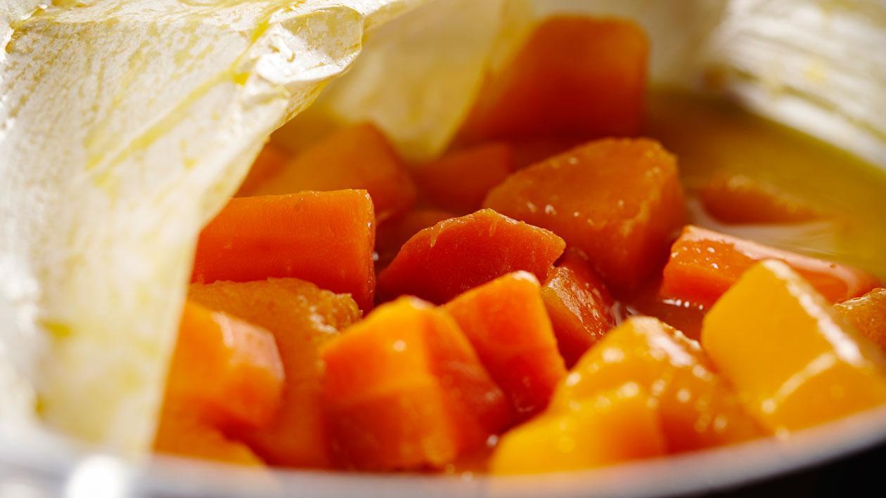 Veloute van wortel, flespompoen en clementine
