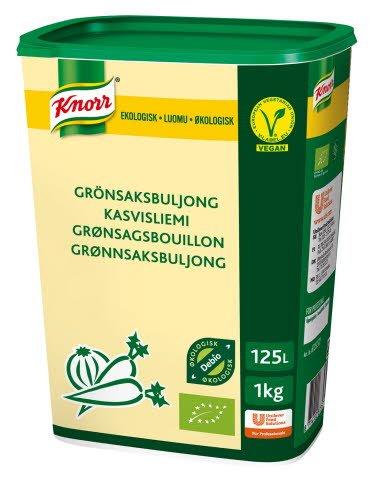 Knorr Økologisk Grønnsaksbuljong Lavsalt 125L