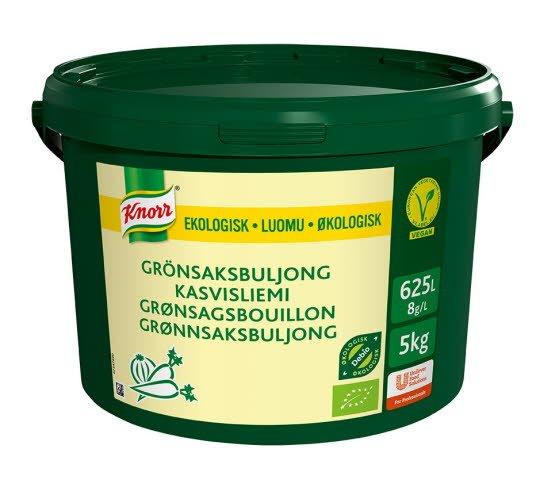 Knorr Økologisk Grønnsaksbuljong Lavsalt 625L