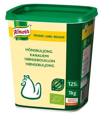 Knorr Økologisk Hønsebuljong Lavsalt 125L