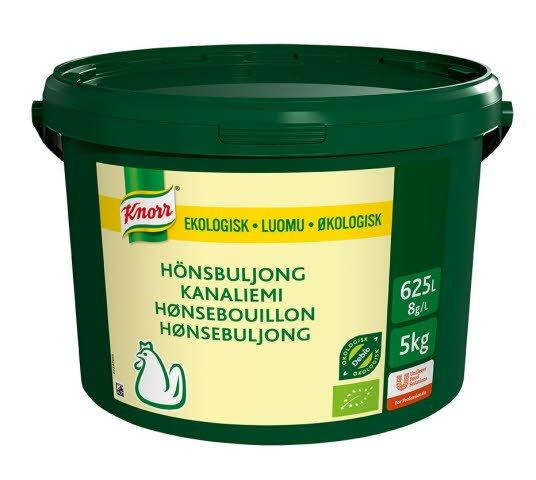 Knorr Økologisk Hønsebuljong Lavsalt 625L