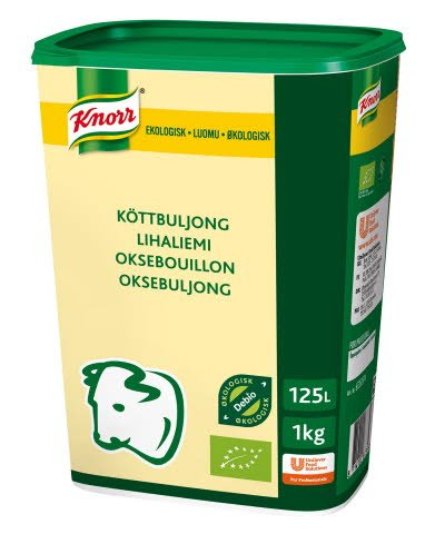 Knorr Økologisk Oksebuljong Lavsalt 125L
