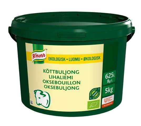 Knorr Økologisk Oksebuljong Lavsalt 625L