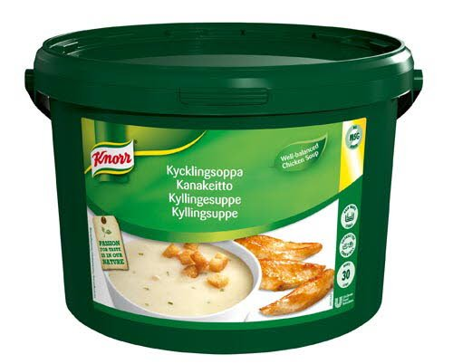 Knorr Kremet Kyllingsuppe 30L