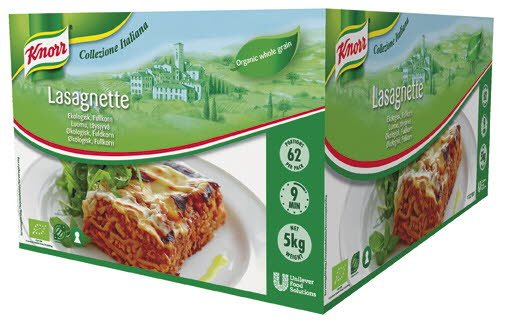 Knorr Lasagnette Økologisk 3kg