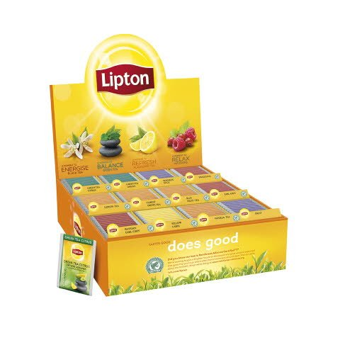Lipton Assortert Displayboks te 12x25 ps -