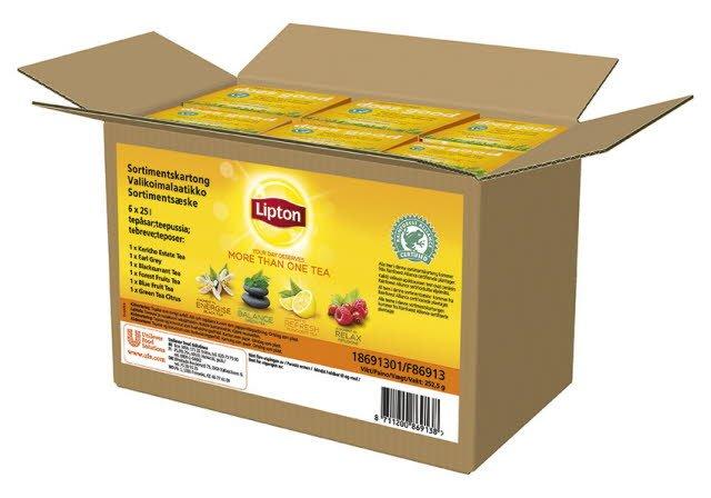 Lipton Assortert Kartong te 12x25ps (erst. av EPD 5207824 18.feb19) -