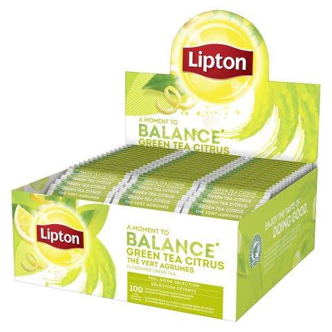 Lipton Grønn te med sitrus 100ps