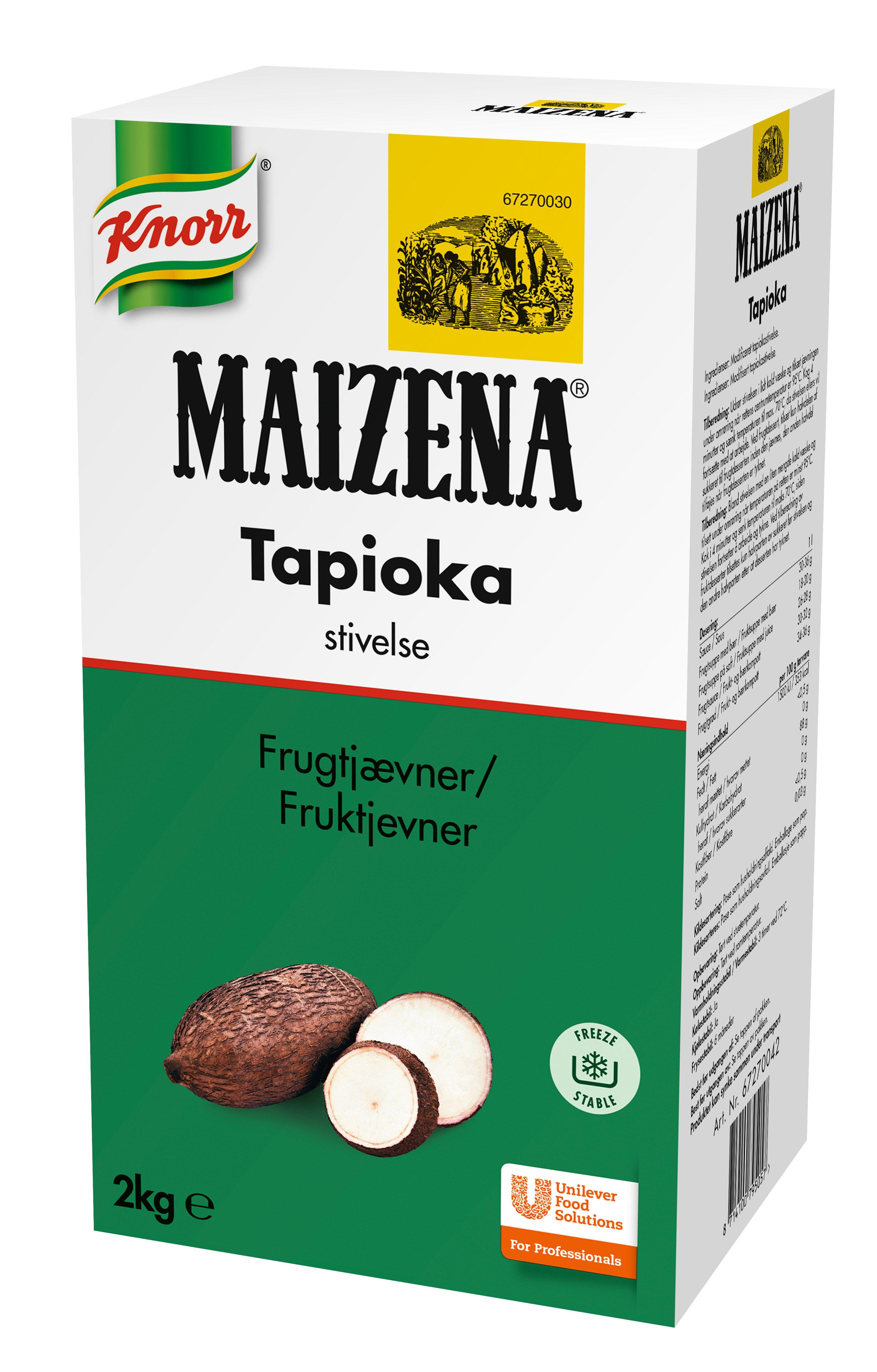 Maizena Tapioka stivelse (Fruktjevner) 2kg
