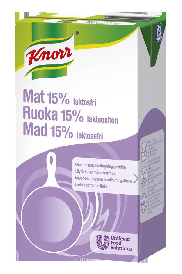 Knorr Mat 15% Laktosefri 1L (erst. av EPD: 5362827) - Knorr Mat 15% tåler røff behandling og holder rett konsistens fra start til slutt, i alle varme matretter.