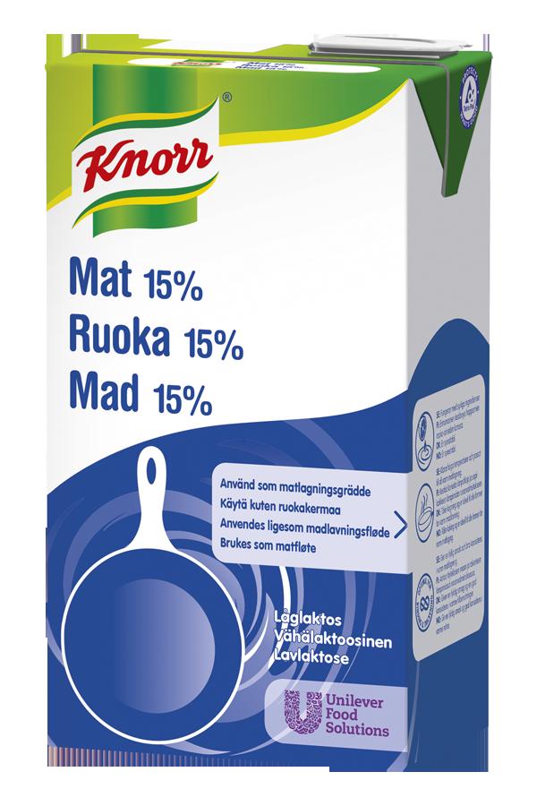 Knorr Mat 15% Lavlaktose 1L - Knorr Mat 15% tåler røff behandling og holder rett konsistens fra start til slutt, i alle varme matretter.