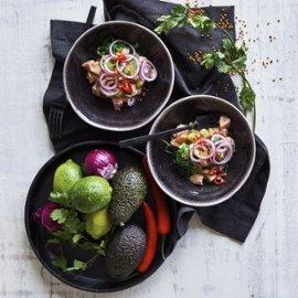 Asiatisk lakse-ceviche med lime