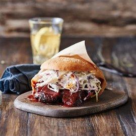 Beef Brisket Sandwich med bourbonchipotle