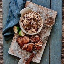 Jerk-kylling med ris og bønner