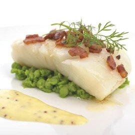 Lutefisk med varm sennepsaus