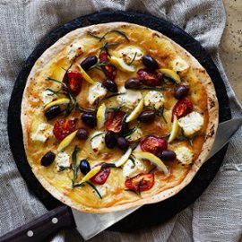 Manakeesh – Arabisk pizza med geitost