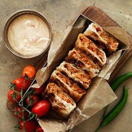 Murtabak – filo med kylling, tomat og chili