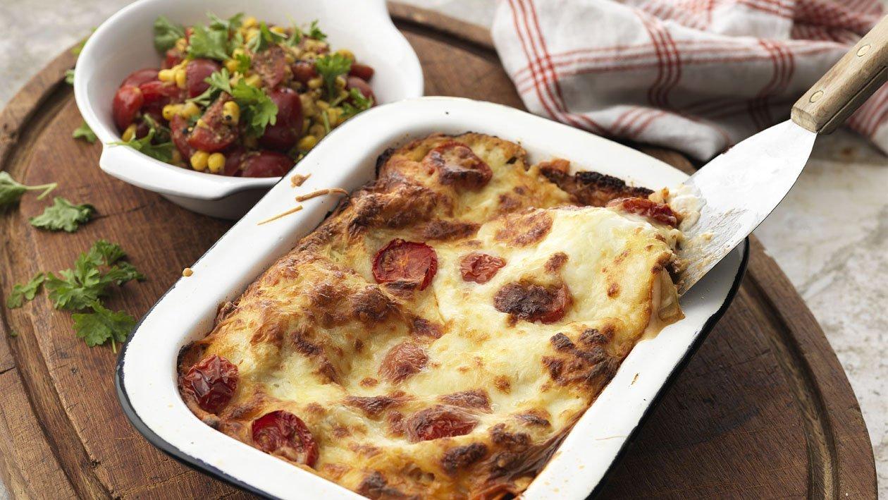 Kyllinglasagne med grønnsaker – Oppskrift