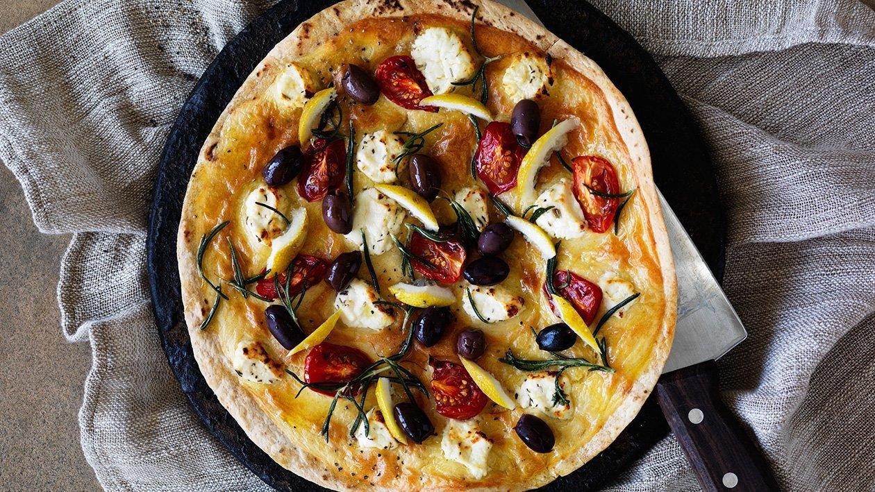 Manakeesh – Arabisk pizza med geitost – Oppskrift