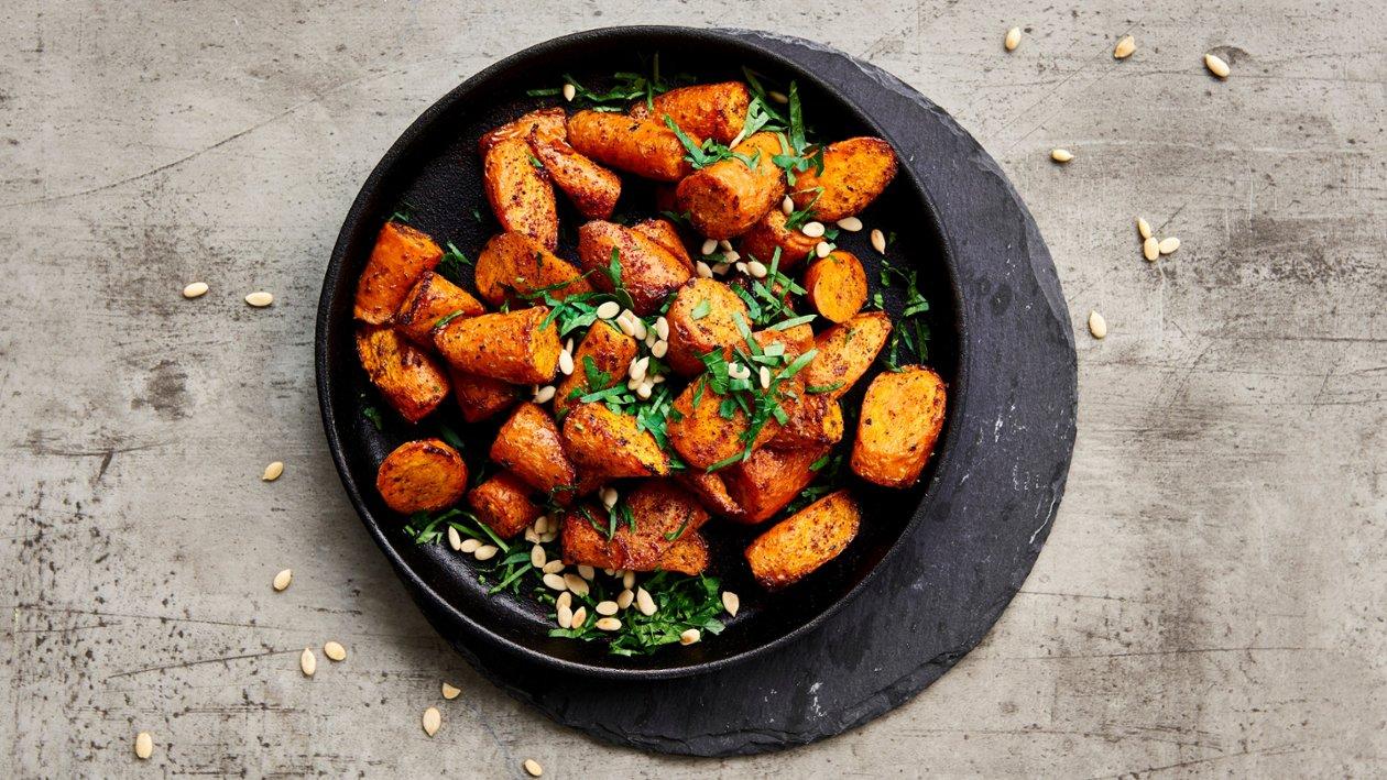Ristede, orientalske gulrøtter – Oppskrift