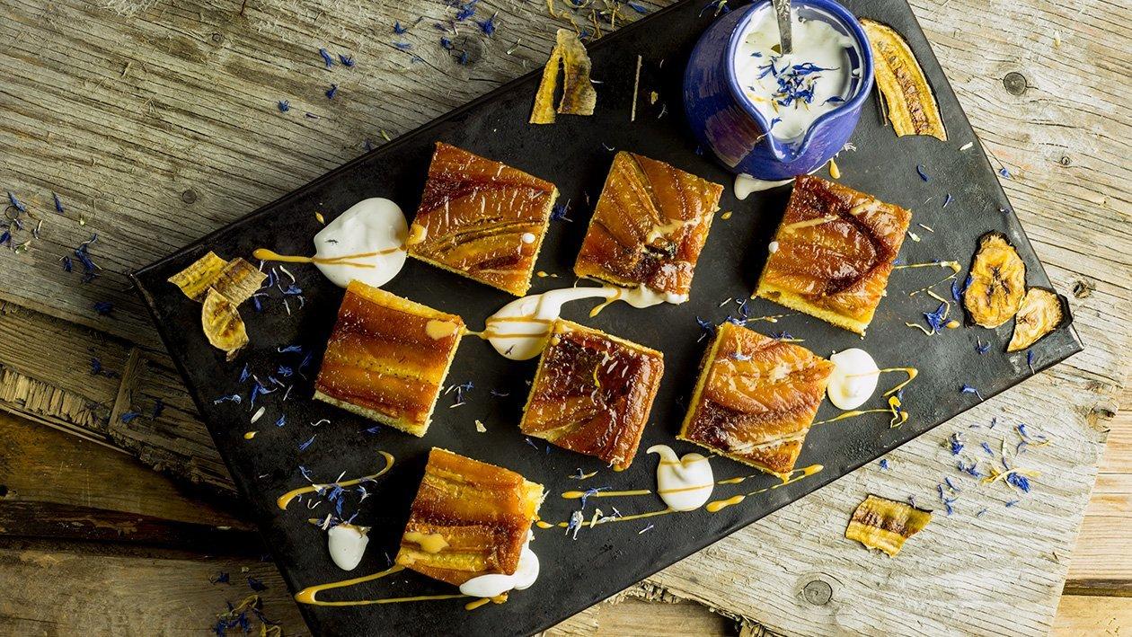 Torta de Banana - Karamellisert bananpai – Oppskrift