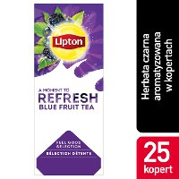 Lipton Classic Blue Fruit Tea (Czarna herbata z orzeźwiającą nutą owoców jagodowych) 25 kopert