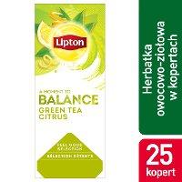 Lipton Classic Green Tea Citrus (Zielona herbata z delikatną nutą owoców cytrusowych) 25 kopert