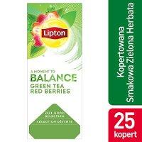 Lipton Feel Good Selection Green Tea Berries (Zielona herbata z delikatną nutą truskawki i maliny) 25 kopert