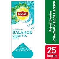 Lipton Feel Good Selection Green Tea Mint (Zielona Herbata z dodatkiem mięty) 25 kopert