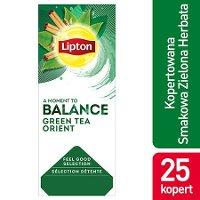 Lipton Feel Good Selection Green Tea Orient (Zielona herbata z delikatną nutą orientalnych przypraw) 25 kopert