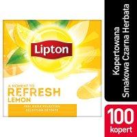 Lipton Feel Good Selection Lemon (Czarna herbata z orzeźwiającą nutą skórki cytrynowej) 100 kopert