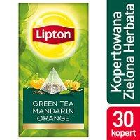 Lipton Piramida Green Tea Mandarin Orange (Herbata zielona o smaku mandarynki i pomarańczy) 30 kopert