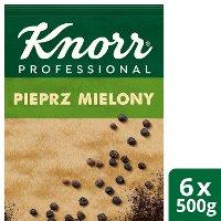 Pieprz czarny mielony z Wietnamu Knorr Professional 0,5 kg