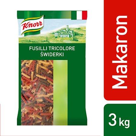 Fusilli Tricolore (Świderki w 3 kolorach) Knorr 3 kg -