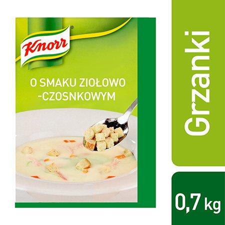 Grzanki o smaku ziołowo-czosnkowym Knorr 0,7 kg -