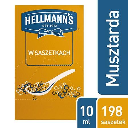 Hellmann's Musztarda w saszetkach 10 ml x 198 saszetek -