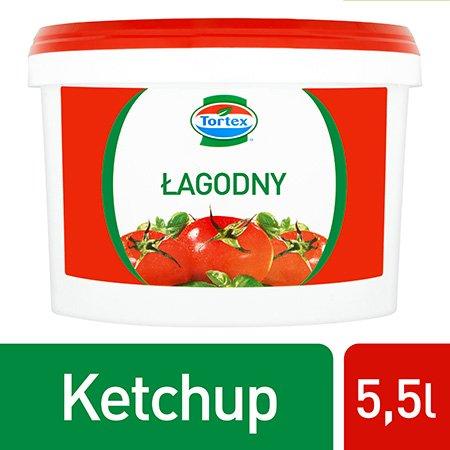 Ketchup łagodny Tortex 5,5 kg -