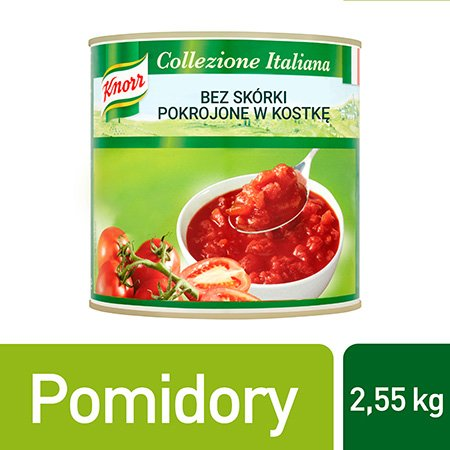 Knorr Polparicca di Pomodoro Pomidory bez skórki pokrojone w kostkę 2,55 kg