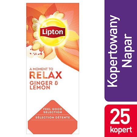Lipton Classic Ginger Lemon (imbir i cytryna) 25 kopert