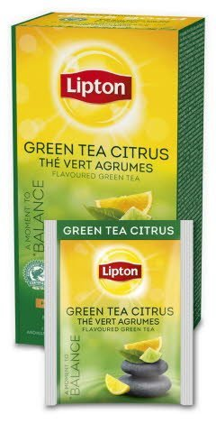 Lipton Classic Green Tea Citrus 25 kopert