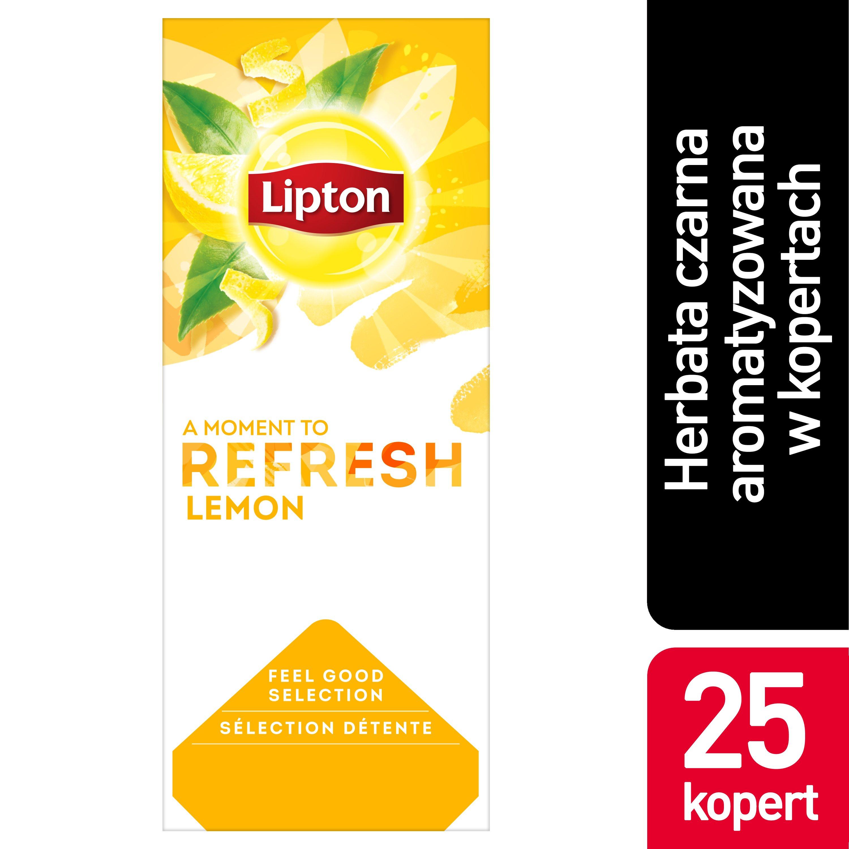 Lipton Classic Lemon (Czarna herbata z orzeźwiającą nutą skórki cytrynowej) 25 kopert -