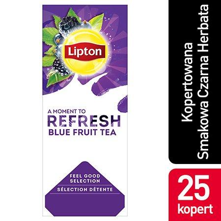 Lipton Feel Good Selection Blue Fruit Tea (Czarna herbata z orzeźwiającą nutą owoców jagodowych) 25 kopert -