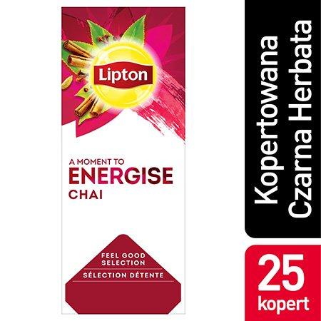 Lipton Feel Good Selection Chai (Czarna herbata wzbogacona smakiem cynamonu, goździków i kardamonu) 25 kopert -